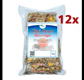 Kit 12 pacotes de Chá Seca Barriga Super - 70g cada