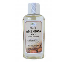 Óleo Vegetal de Amêndoas Doce (Prunus amygdalus L.),  70ml